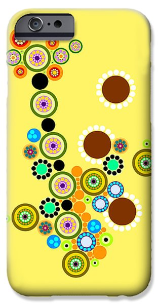 """geometric Art"" iPhone Cases - Circle Motif 247 iPhone Case by John F Metcalf"