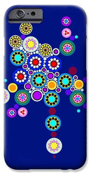 """geometric Art"" iPhone Cases - Circle Motif 249 iPhone Case by John F Metcalf"