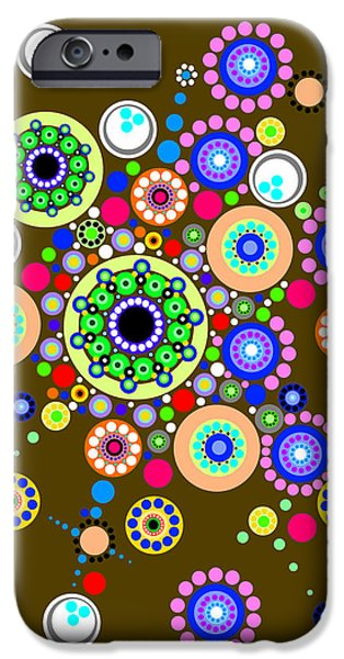 """geometric Art"" iPhone Cases - Circle Motif 254 iPhone Case by John F Metcalf"
