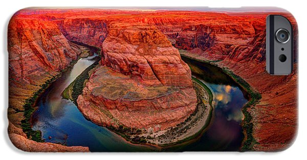 Red Cliffs iPhone Cases - Circle of Life iPhone Case by Midori Chan