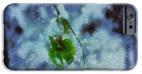 Snowy Day iPhone Cases - Circle Of Seasons iPhone Case by Dan Sproul
