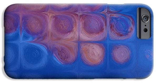 Abstract Forms iPhone Cases - Circles In Squares iPhone Case by Jack Zulli