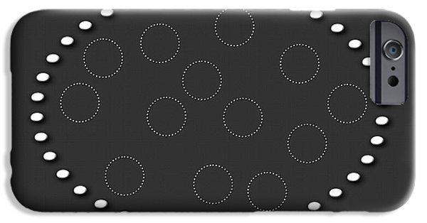 Multimedia iPhone Cases - Circles Of Circles iPhone Case by Tina M Wenger