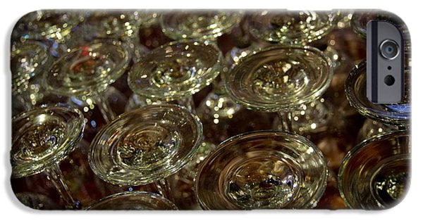 Wine Sipping iPhone Cases - Circles Of Delight iPhone Case by Al Bourassa