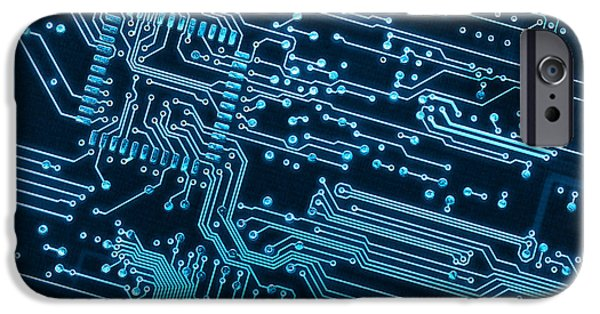 Electronics iPhone Cases - Circuit Board iPhone Case by Carlos Caetano