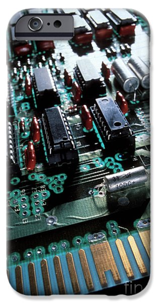 Electronic iPhone Cases - Circuit Board iPhone Case by Jerry McElroy