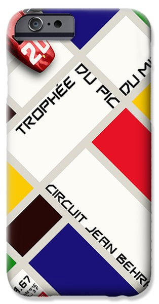 Circuit iPhone Cases - Circuit Jean Behra French Grand Prix 1967 iPhone Case by Nomad Art And  Design