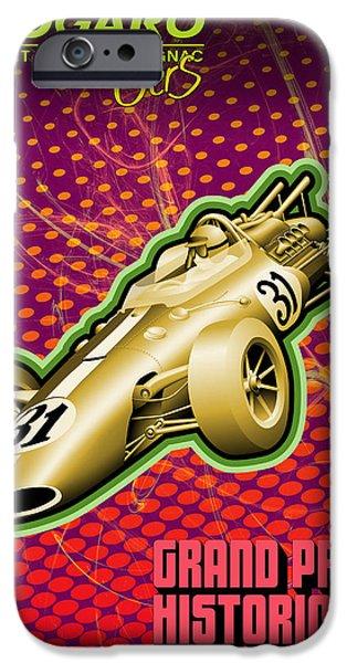 Circuit iPhone Cases - Circuit Paul Armagnac Nogaro Grand Prix iPhone Case by Nomad Art And  Design