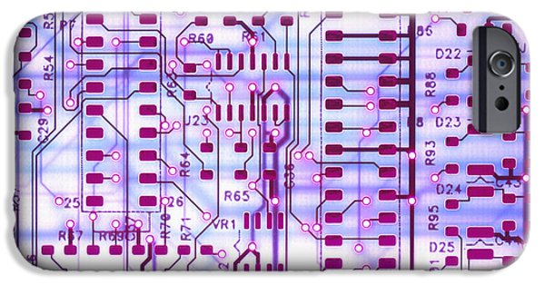 Electronic iPhone Cases - Circuit Trace II iPhone Case by Jerry McElroy