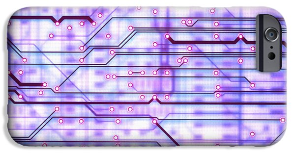 Printed Circuit Board iPhone Cases - Circuit Trace iPhone Case by Jerry McElroy