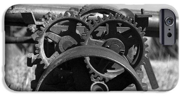 Rust iPhone Cases - Circular Circus iPhone Case by Rebecca Davis