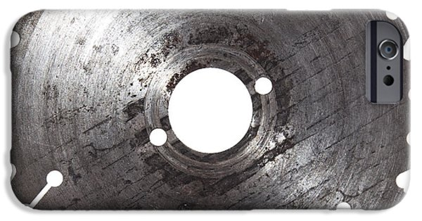 Circular Saw iPhone Cases - Circular Saw Blade isolated on white iPhone Case by Handmade Pictures