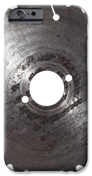 Circular Saw Blade isolated on white iPhone Case by Handmade Pictures