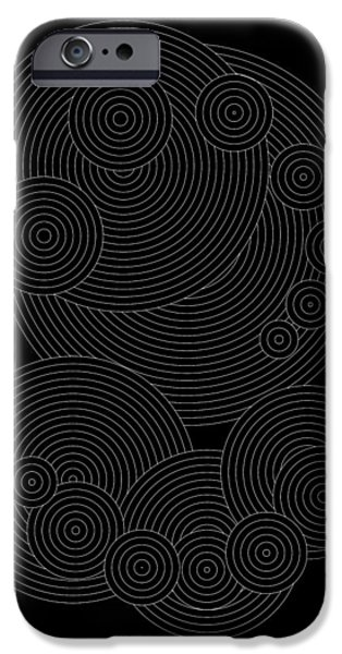Hieroglyph iPhone Cases - Circular Sunday Inverse iPhone Case by DB Artist