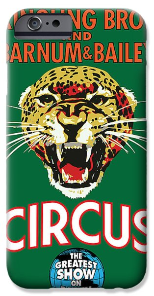 Vector Posters iPhone Cases - Circus iPhone Case by Gary Grayson