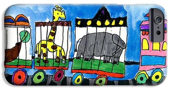 Recently Sold -  - Machinery iPhone Cases - Circus Train iPhone Case by Max Kaderabek Age Eight