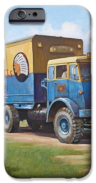 Circus truck iPhone Case by Mike  Jeffries