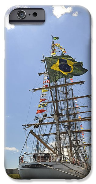 Tall Ship iPhone Cases - Cisne Blanco iPhone Case by Marianne Campolongo