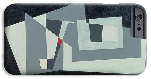 Modern Abstract iPhone Cases - Citadel, Version 3, 1982 Oil On Hardboard iPhone Case by George Dannatt