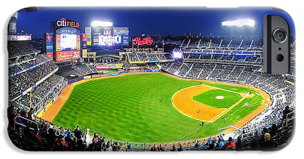 Baseball Stadiums iPhone Cases - Citi Field and the New York Mets iPhone Case by Nishanth Gopinathan