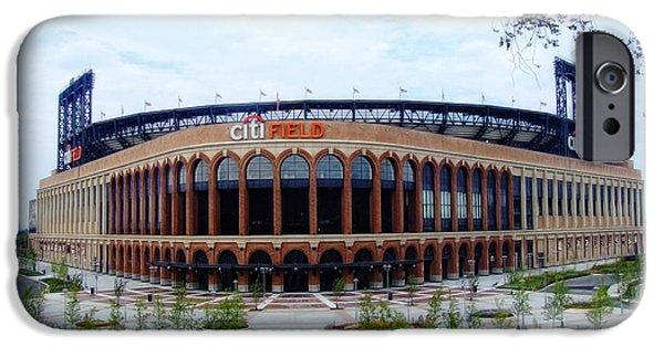 Shea Stadium iPhone Cases - Citi Field Baseball Stadium iPhone Case by Nishanth Gopinathan