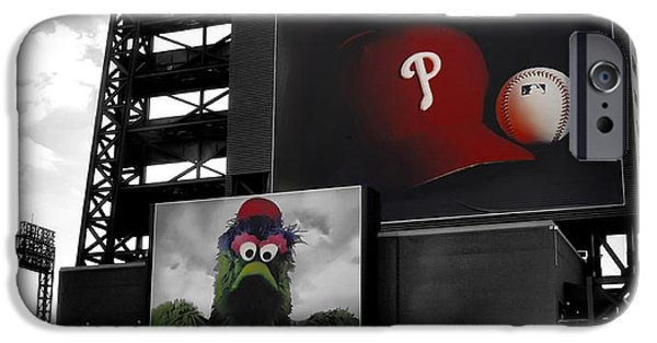 Philadelphia Phillies Stadium Digital iPhone Cases - Citizens Bank Park Philadelphia iPhone Case by Bill Cannon