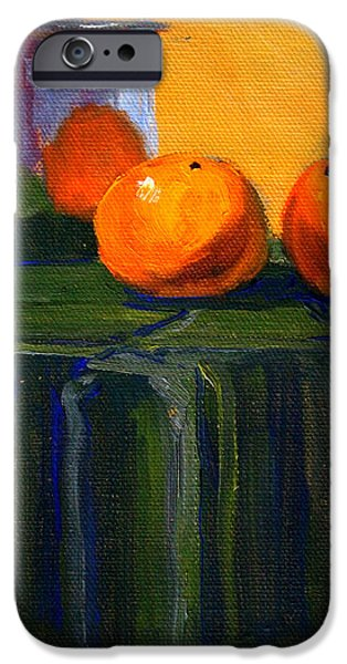 Reflection Harvest iPhone Cases - Citrus Chrome iPhone Case by Nancy Merkle