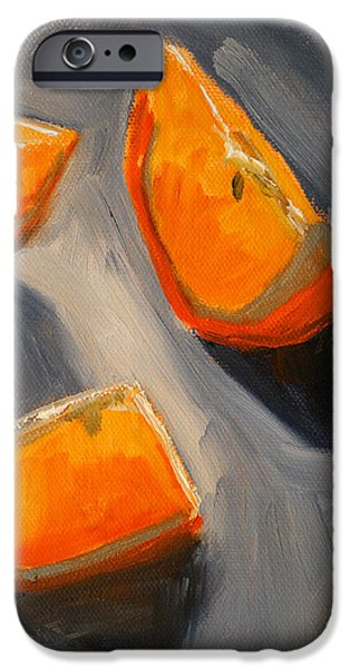 Tangerines Paintings iPhone Cases - Citrus Mix Up iPhone Case by Nancy Merkle