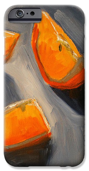 Tangerine Paintings iPhone Cases - Citrus Mix Up iPhone Case by Nancy Merkle