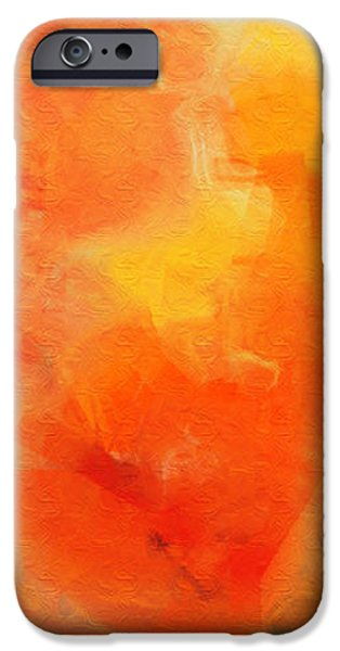 Citrus Passion - Abstract - Digital Painting iPhone Case by Andee Design