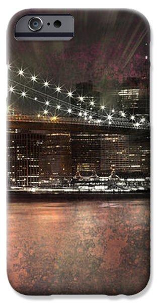 City-Art BROOKLYN BRIDGE iPhone Case by Melanie Viola