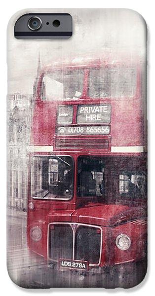 City-Art LONDON Westminster Collage II iPhone Case by Melanie Viola