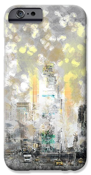 Abstract Sights Digital iPhone Cases - City-Art MANHATTAN Sunflower iPhone Case by Melanie Viola