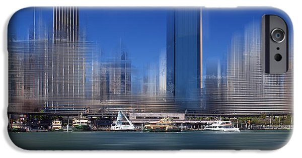 Facade Digital iPhone Cases - City-Art SYDNEY Circular Quay iPhone Case by Melanie Viola