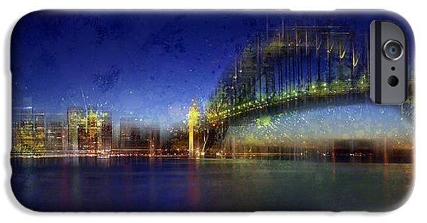 Abstract Digital iPhone Cases - City-Art SYDNEY iPhone Case by Melanie Viola
