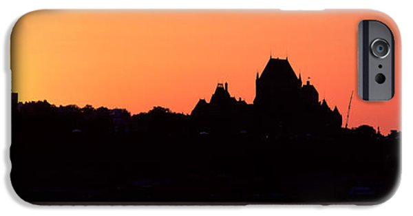 Levis iPhone Cases - City At Sunset, Chateau Frontenac iPhone Case by Panoramic Images
