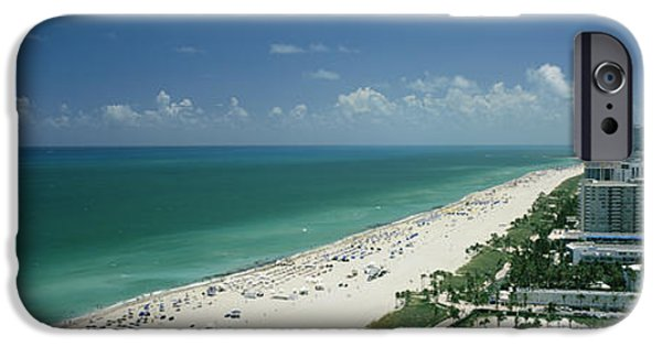 Built Structure iPhone Cases - City At The Beachfront, South Beach iPhone Case by Panoramic Images