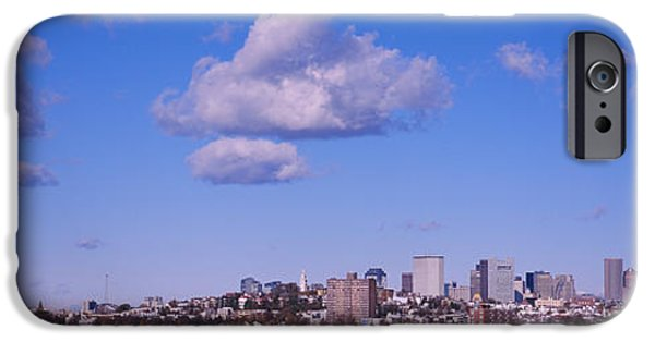 City. Boston iPhone Cases - City At The Waterfront, Boston iPhone Case by Panoramic Images