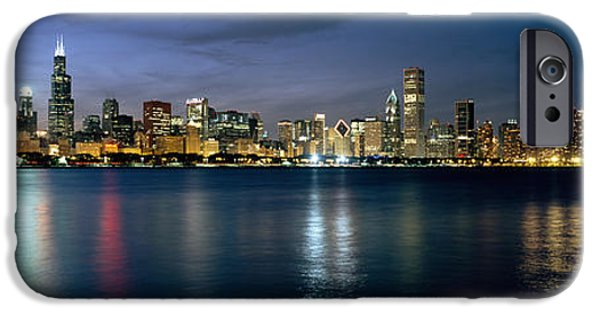 Built Structure iPhone Cases - City At The Waterfront, Chicago, Cook iPhone Case by Panoramic Images