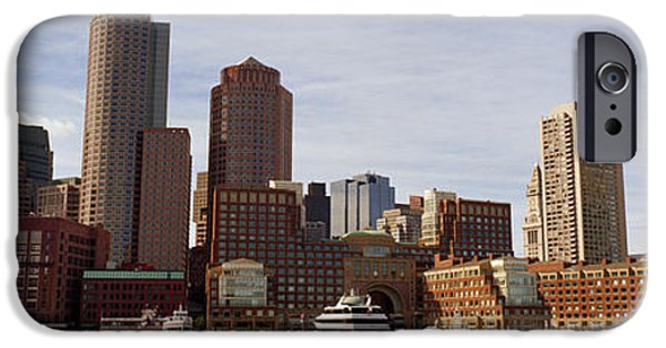 Boston Cityscape iPhone Cases - City At The Waterfront, Fan Pier iPhone Case by Panoramic Images