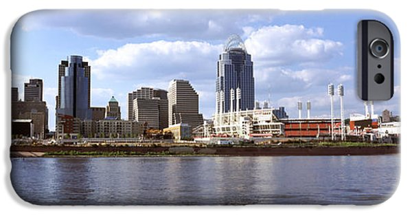 Connection iPhone Cases - City At The Waterfront, Ohio River iPhone Case by Panoramic Images