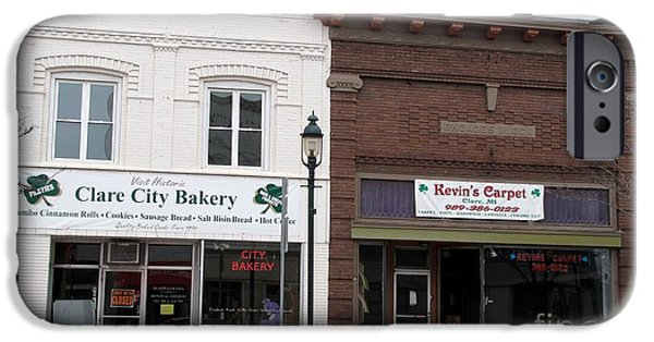 Clare Michigan iPhone Cases - City Bakery in Clare Michigan iPhone Case by Terri Gostola