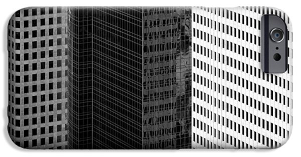 Business Photographs iPhone Cases - City Blocks iPhone Case by Dave Bowman