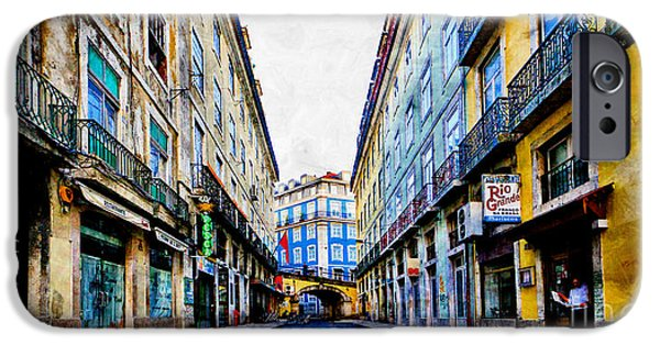 Michael Mixed Media iPhone Cases - City Centre Lisbon iPhone Case by M and L Creations