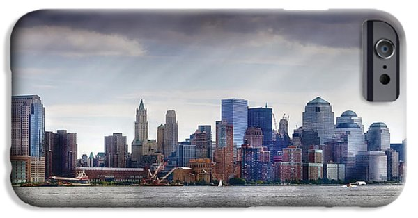 Rebuilt iPhone Cases - City - Hoboken NJ - New York City - PANO iPhone Case by Mike Savad