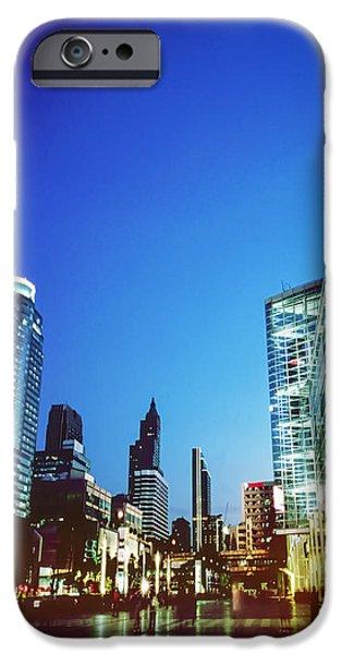 city in twilight iPhone Case by Setsiri Silapasuwanchai