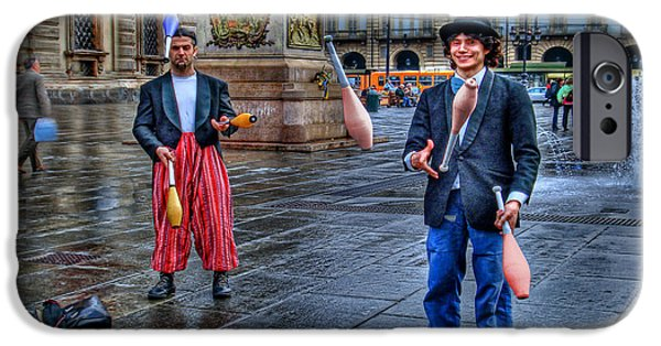 Jugglers iPhone Cases - City Jugglers iPhone Case by Ron Shoshani
