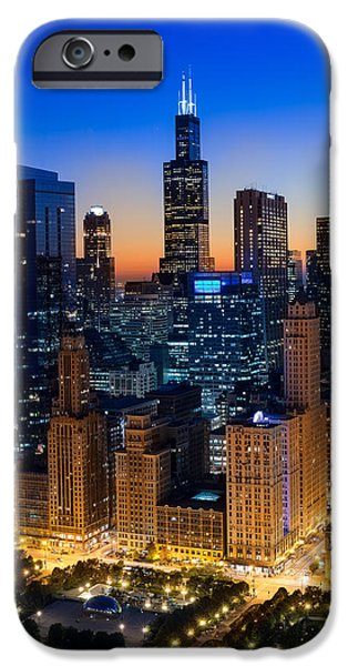 Willis Tower iPhone Cases - City Light Chicago iPhone Case by Steve Gadomski