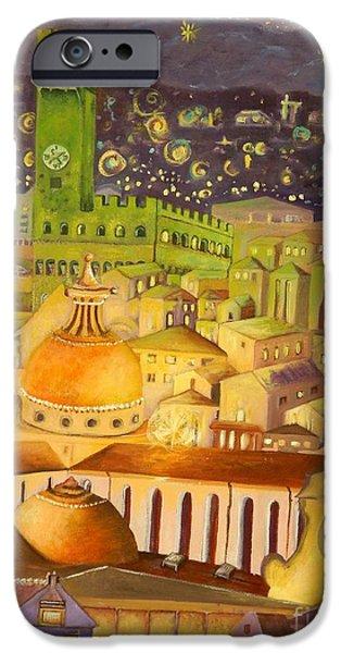 Carolinestreetart iPhone Cases - City Light Star Light iPhone Case by Caroline Street