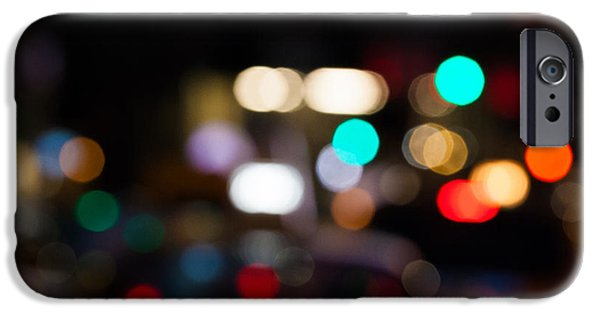 City Scene iPhone Cases - City Lights  iPhone Case by John Farnan